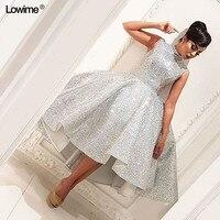 2018 Sexy vestido de festa Scoop A Line Sequin Sleeveless Prom Dresses For Wedding Party Knee Length