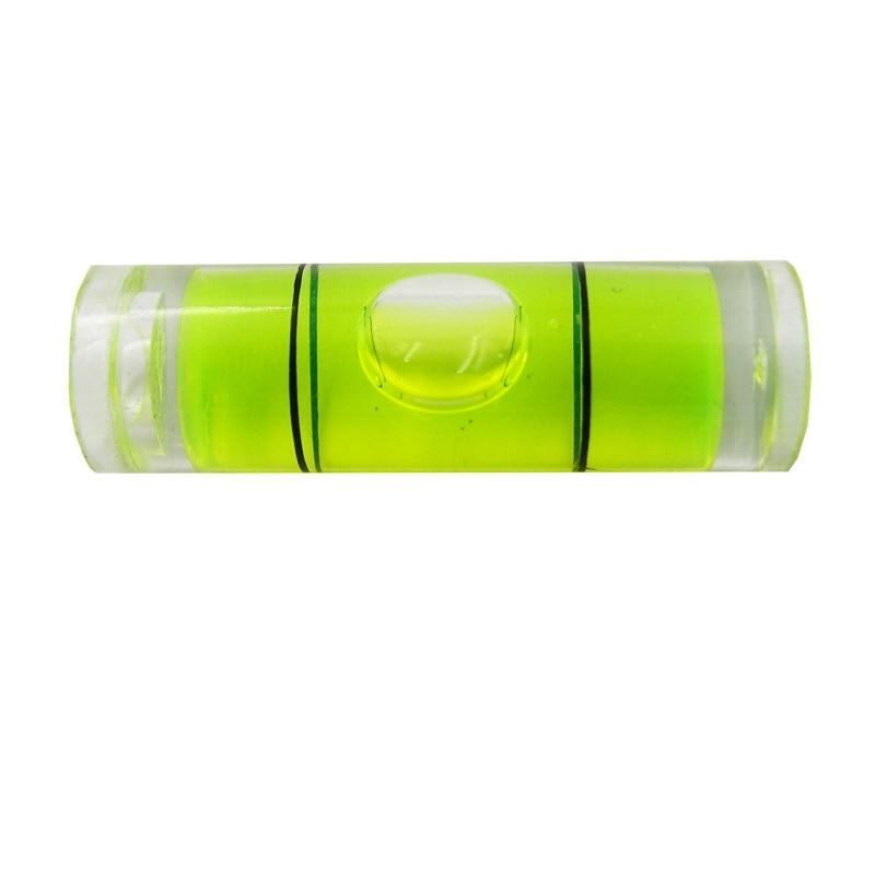 Acrylic 14mm x 8mm Green Colour mini spirit level bubble round Frame Bullseye