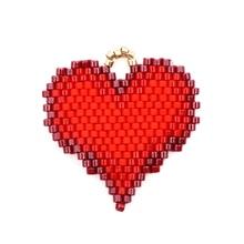 Shinus 10Pcs/lot Delica Miyuki Heart Accessories Fit Bracelet Earrings Necklace Boho Chic Jewelry Bohemian Summer Beach