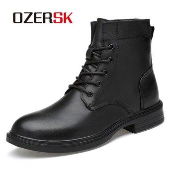 OZERSK 2020 Hot Sale Casual Shoes Autumn Boots Men Big Size 37-50 Comfortable Shoes Men Black Vintage Men Boots Safety Shoes