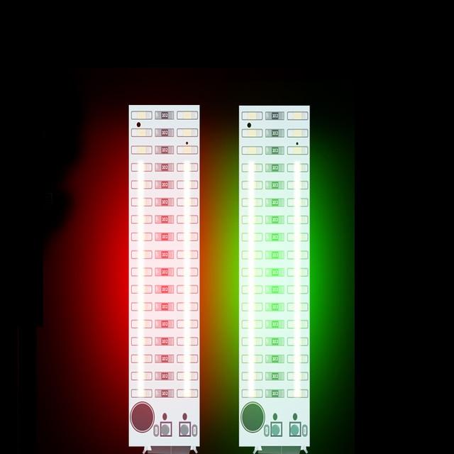 2X17 LED USB Mini ses kontrolü ses USB müzik spektrum ışık flaş ses seviyesi göstergesi için LED MP3 amplifikatör