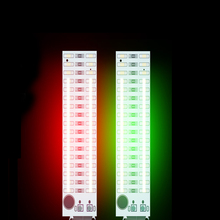 2X17 Led Usb Mini Voice Control Audio Usb Muziek Spectrum Licht Flash Volume Niveau Indicator Led Voor MP3 Versterker