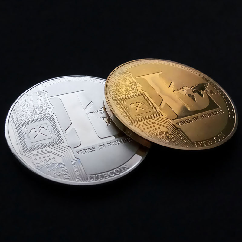 Non-currency Coin Commemorative Coins Gold/Silver Plated 25 LTC Litecoin Vires in Numeris Medallion Coin Drop Shipping Support