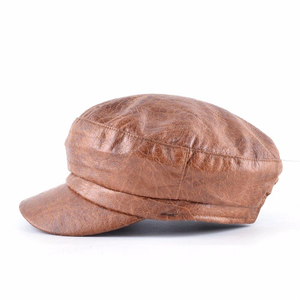 TQMSMY invierno hombres mujeres cuero boina gorra hombre señoras Beanie  Gorras Planas boina vendimia sombrero hacia atrás desgaste Casquette  sombreros TMC39 ... dd8e9dd471f