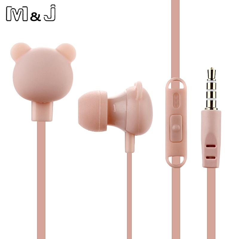 M&J crtić slatka slušalica 3.5mm u uho žičana slušalica s - Prijenosni audio i video - Foto 4