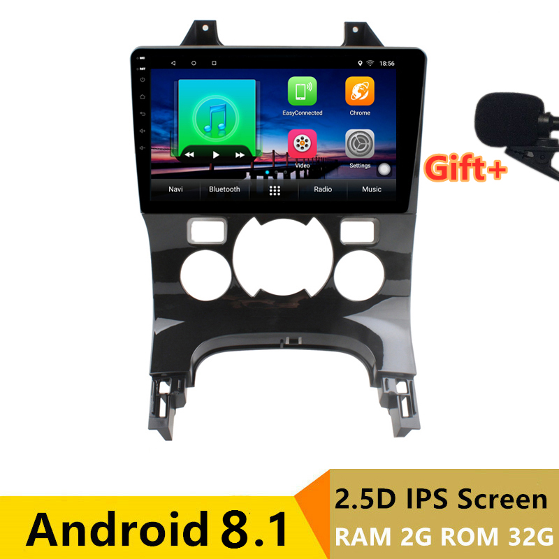 "9"" 2+32G 2.5D IPS Android 8.1 Car DVD Multimedia Player GPS for Peugeot 3008 2009-2012 2013-2016 audio radio stereo navigation"