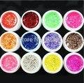 New DIY 12 Pcs Mix Color Glitter Nail Art UV Builder Gel for False Tip Set Nail Art