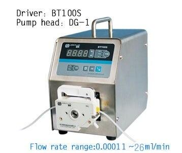 BT100S DG10-1 (10 rouleaux) Laboratoire Numérique Affichage Péristaltique Pompe À Liquide Fluide de L'eau Pompes Doseuses 0.00011 à 20 ml/min