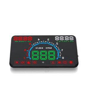 Image 5 - GEYIREN E350 OBD2 II HUD عرض سيارة 5.8 بوصة شاشة سهلة التوصيل والتشغيل السرعة الزائدة إنذار استهلاك الوقود عرض hud العارض
