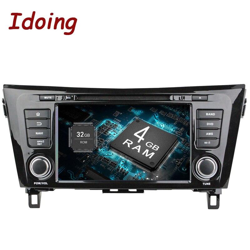 Idoing 2Din 8 Android 8.0 автомобиль DVD Радио плеер подходит Nissan Qashqai/X-Trail 2014 GPS навигации 8 core 4 г + 32 г WI-FI Bluetooth ТВ