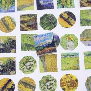 45 قطعة/الوحدة تلبية فان جوخ البسيطة ورقة ملصقا الديكور Diy ألبوم يوميات سكرابوكينغ التسمية ملصقا Kawaii القرطاسية