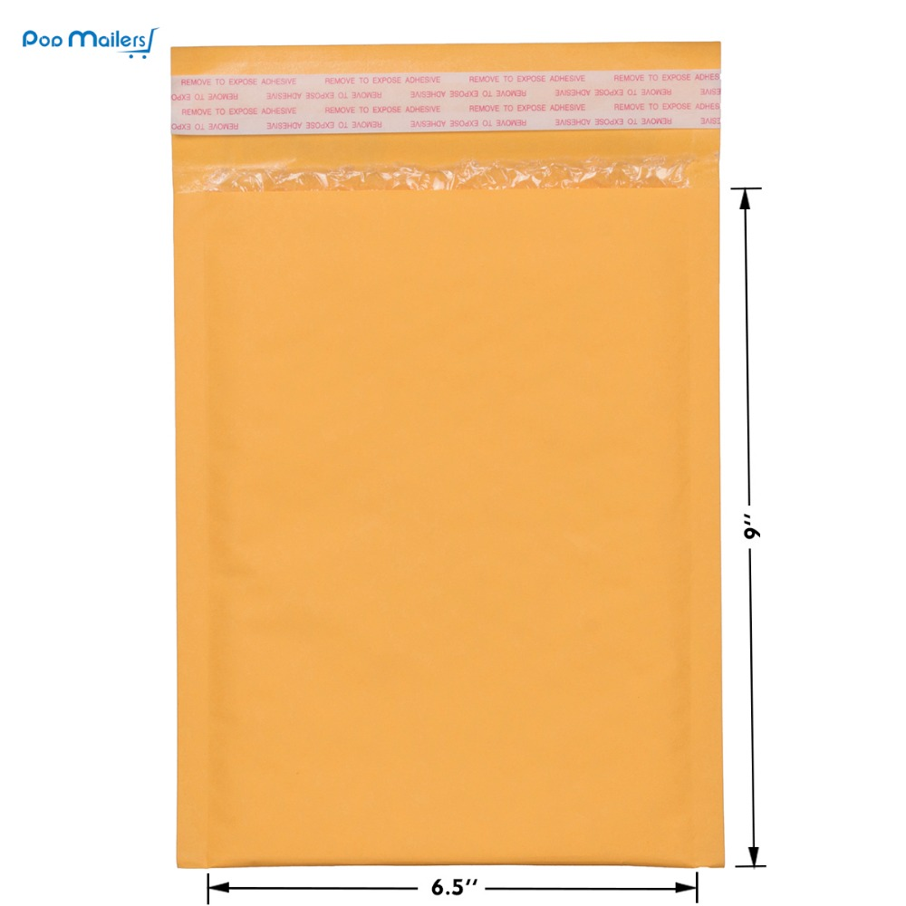 10 Stück 17,5 x 23 cm Kraft Bubble Mailer # 0 Gepolsterte Mailer 6 x - Papier - Foto 4