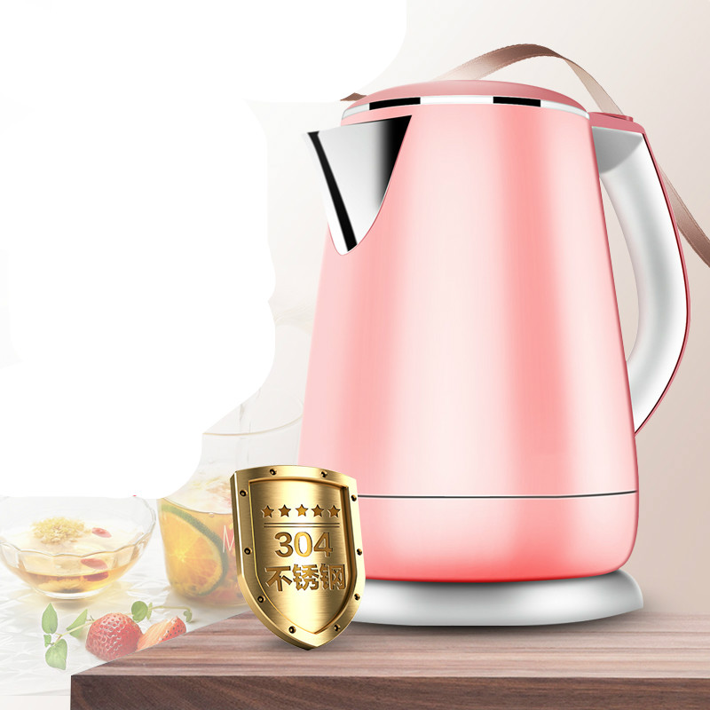 все цены на Electric kettle insulation anti-hot stainless steel automatic water boiler Anti-dry Protection