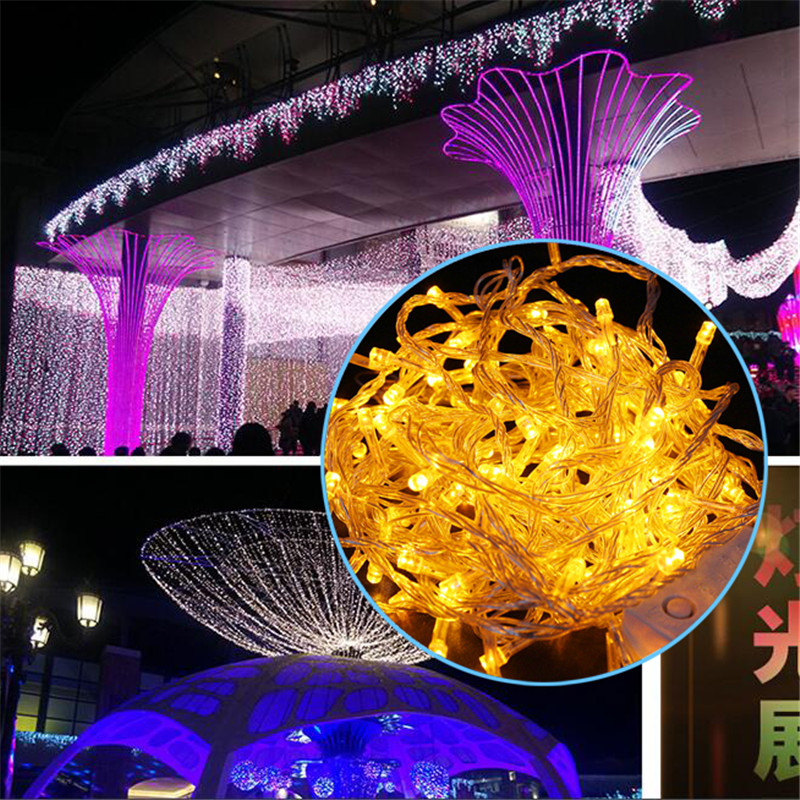50M 100M LED string Fairy light holiday decoration AC220V 110V Waterproof outdoor light with controller