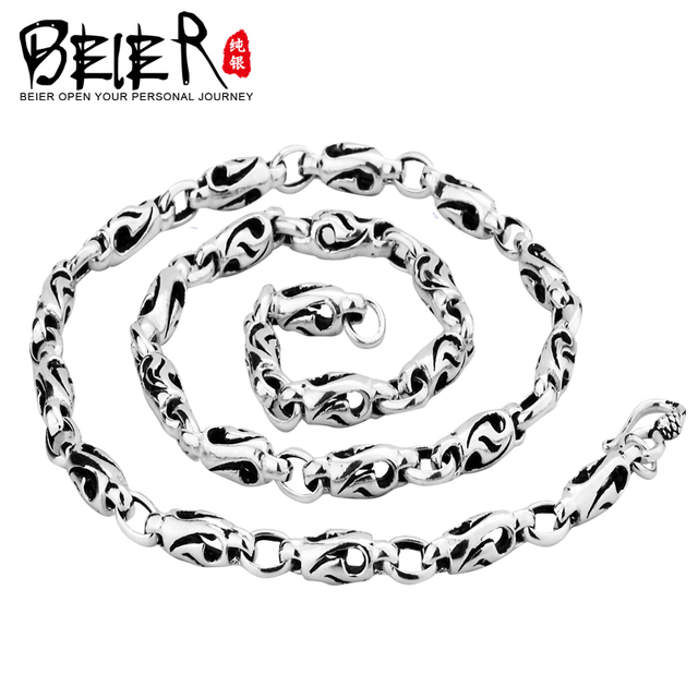 Super Quality 925S Sterling Silver Men's Match Necklace Chain For Man Woman Personality Vintage Jewelry BR925XL012