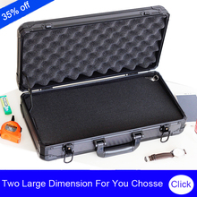 high quality aluminum long tool case suitcase toolbox File box Impact resistant safety case camera case with pre-cut foam lining