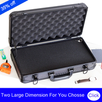 high quality aluminum long tool case suitcase toolbox File box Impact resistant safety case camera case with pre cut foam lining