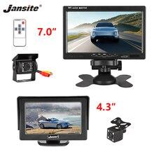 Jansite 4,3 дюймов 7 дюймов TFT ЖК-дисплей автомобильный hd-дисплей Универсальный Водонепроницаемый 12 V 24 V камера заднего вида проводной парковочная камера