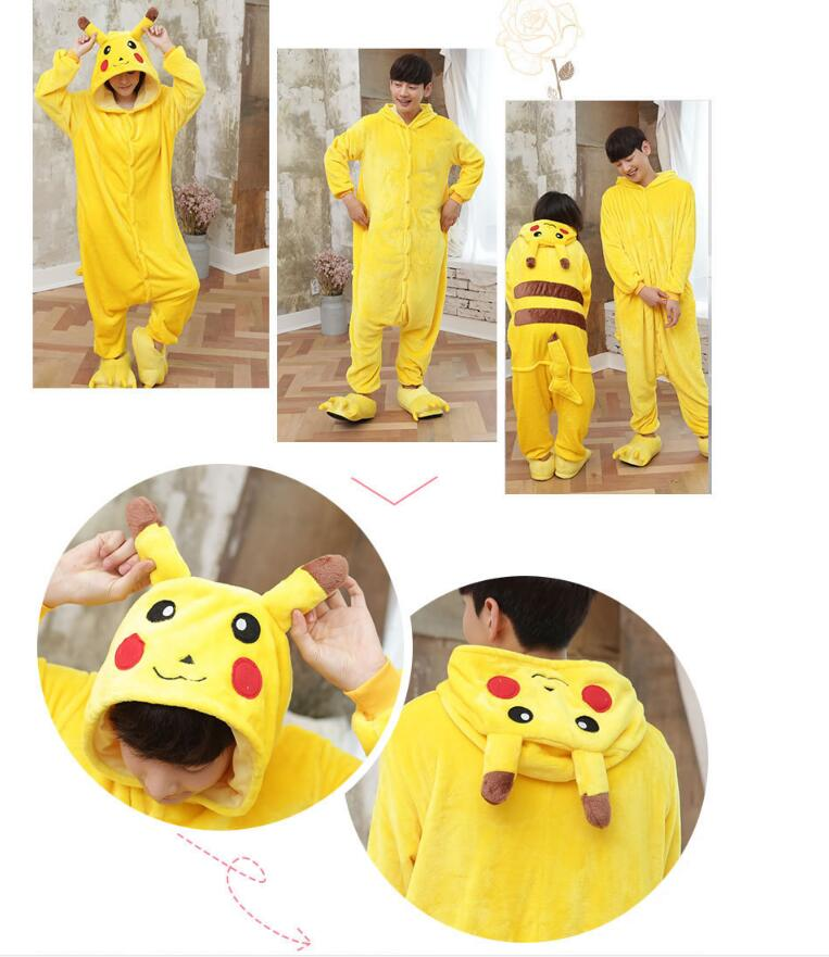 e912266c22 Pikachu Panda Stitch Ahri Adults Pajamas Pyjamas Anime Costumes Adult  Cartoon Animal Onesies Sleepwear Cheep One Piece on Aliexpress.com