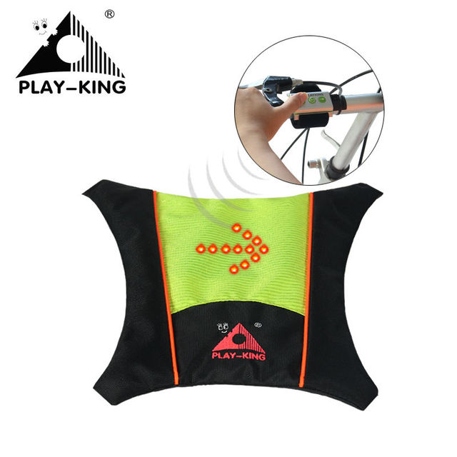 Cycling Reflective Safety Clothing Vest High Visible Vest LED Backpack Vest LED Lamp Bicycle Lights With Remote Control
