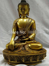 """Envío rápido 8 """"China bronce dorado tallado hermoso suerte Escultura Estatua de Buda de la Medicina"""