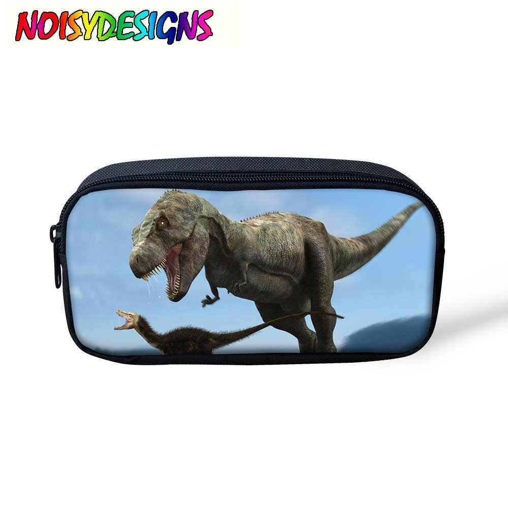 Dinosaur & Tyrannosaurus Printed for Children Boys Girls Cool Pattern pencil case pen bag for teenager Women Portable Cosmetic