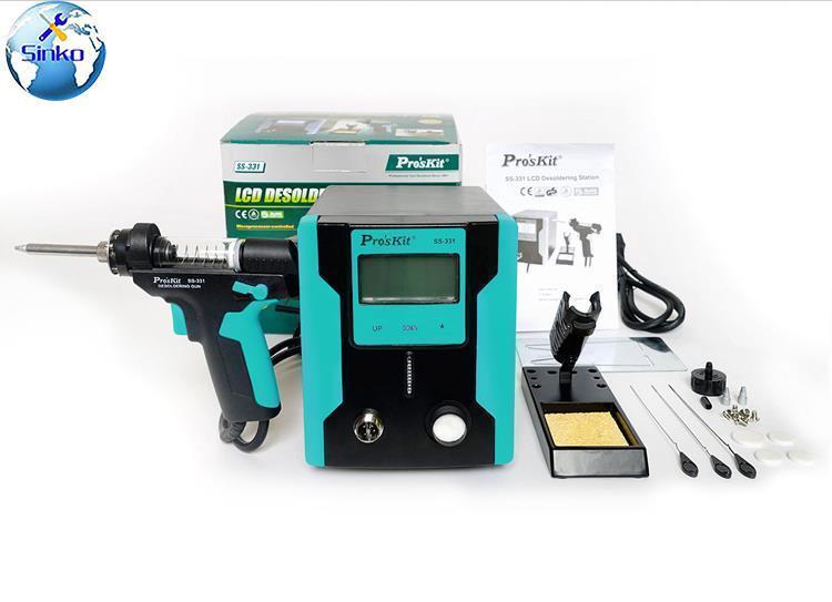 Pro'skit Ss-331h ESD LCD numérique BGA dessoudage aspiration électrique absorber sommeil fonction dessoudage pompe à souder ventouse pistolet