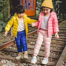 Winter Casual Solid Color Girls Boys Trousers Loose Korean Thicken Kids Clothing Candy Colors Children Long Pants