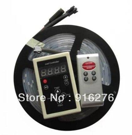 ФОТО 16Ft 5M 6803 IC 5050 RGB 12V Dream color 150 LED Strip Light Waterproof IP67 tube magic color +133 Change RF Remote controller