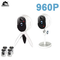 2pcs Newest Wireless WiFi Camera Battery 960P IP Camera 1 3MP Outdoor Full HD Wire Free