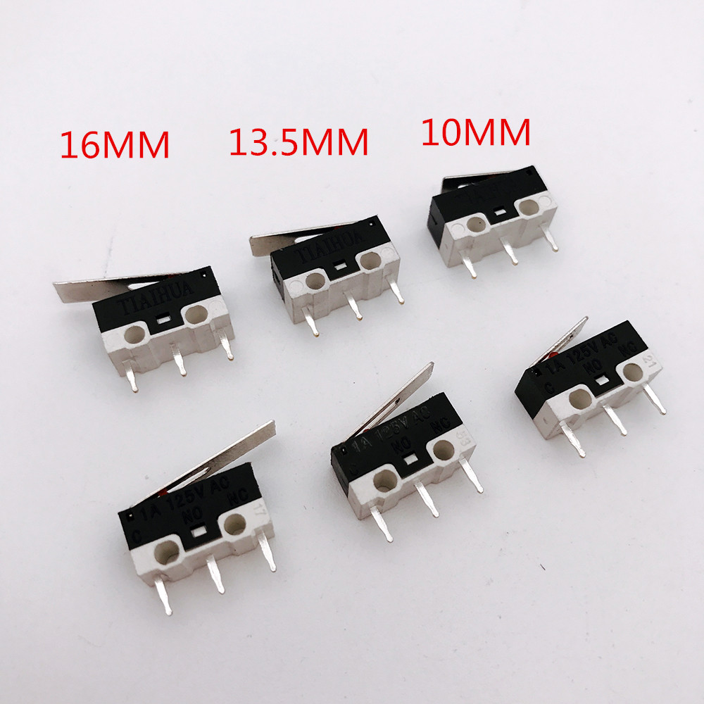 100pcs 3pin Mouse Switch Click switch 1A 125V AC rectangular switches Miniature Micro Sw ...