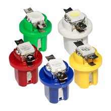 10PCS B8.5D 509T B8.5 5050 Led SMD T5 Lamp Car Gauge Speedo Dash Bulb Dashboard instrument Light blue red green white yellow 10X(China)