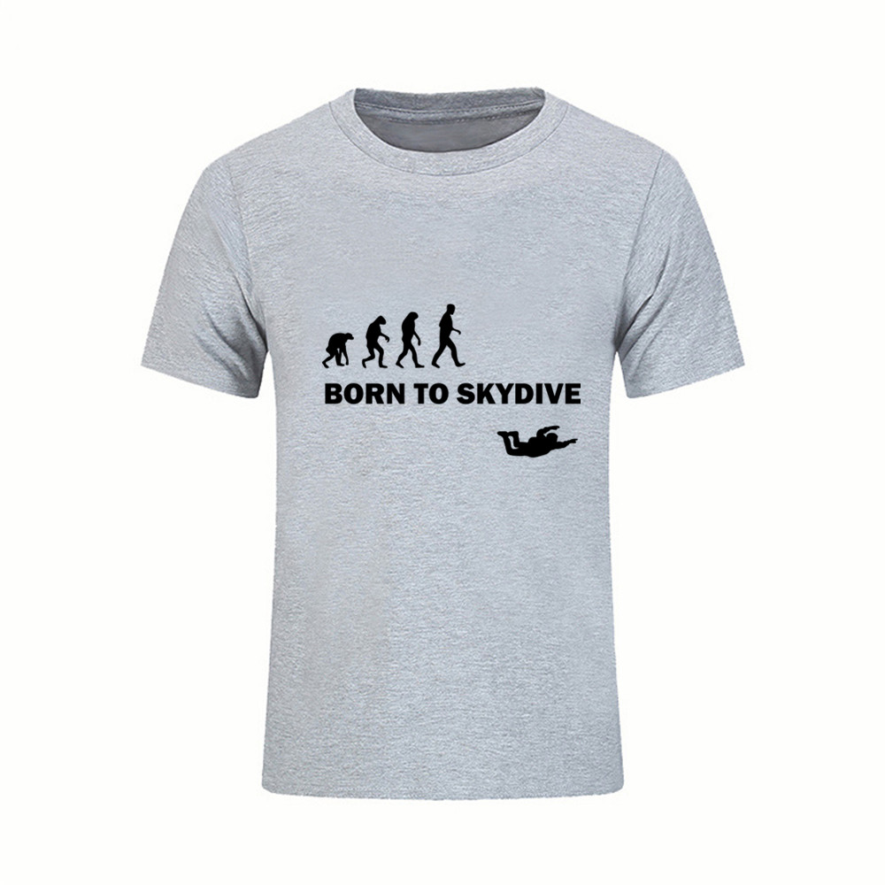 Born To Skydive T Shirt Men Boy Short Sleeve Fathers Day Custom Big Size Tshirt male t-shirt feyenoord rick y morty ac milan