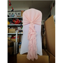 chiffon cruly willow chair sash/chair hood/ pink sash 100 pcs Free shipping