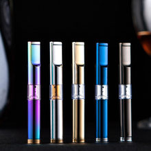 Metal Luxury Unisex Cigarette Filter Recycling Washable Millipore Filtration Mouthpiece Cigarette Holder Gadgets For Men Cigar(China)