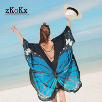 Donne Kimono Cardigan Butterfly Formato Magliette Camicette Stampa Lungo Camicette Casual Del Manicotto Del Harajuku Women Tops