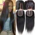 Mink Brazilian Virgin Straight Hair With Closure 4 Bundles Straight Human Hair With Closure Brazilian Virgin Hair With Closure