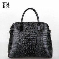 CROCO split Patent Leather Famous Design Women Handbag Shoulder Bags Messenger Cross Body Vintage Luxury Alligator Pattern