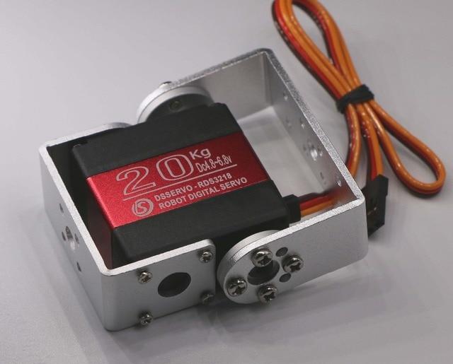 1X Robot servo 20kg RDS3218 metal gear digital servo arduino servo with Long and Short Straight U Mouting