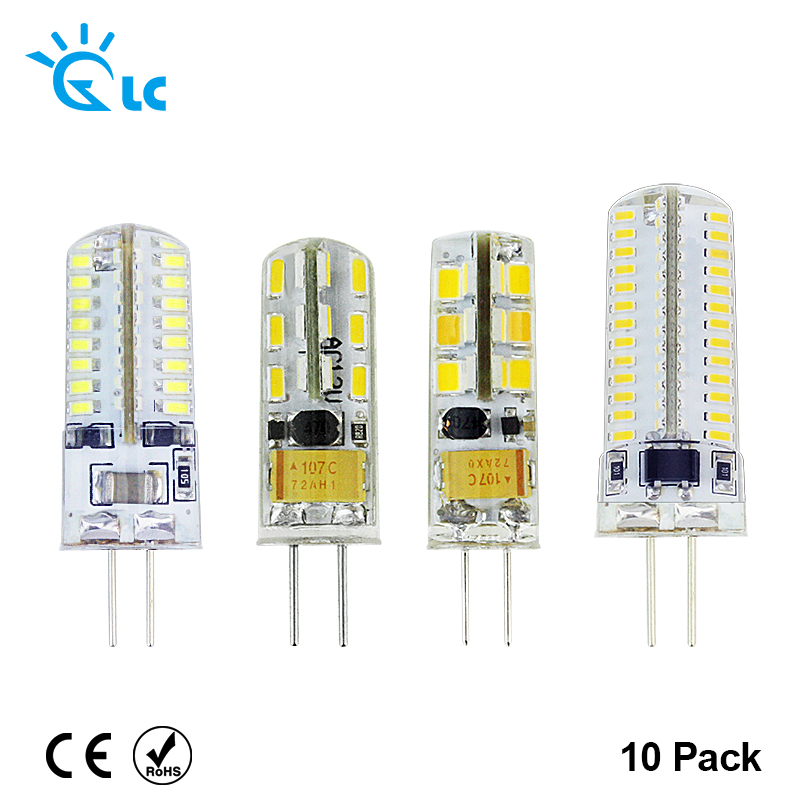 10pcs G4 LED Bulb Lamp High Power 3W SMD2835 3014 DC 12V AC 220V White/Warm White Light replace Halogen Spotlight Chandelier 5x g4 ac dc 12v led bulb lamp smd 1505 3014 2835 2w 3w 4w replace halogen lamp light 360 beam angle luz lampada led