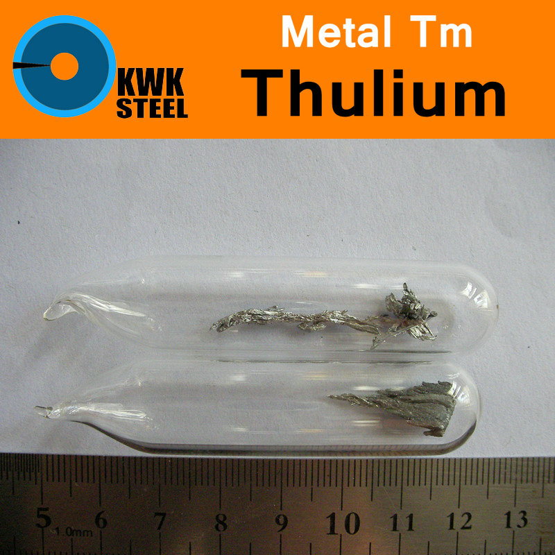 Tm Thulium Metal Bulk Glass Seal Pure 99.99% Periodic Table of Rare-earth Metal Elements for DIY Research Study School Education inhibitor adsorption and thermodynamic study of metal corrosion