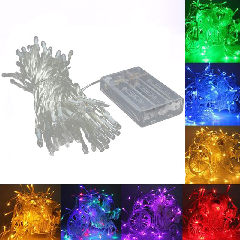 LED String Light 5M Christmas Wedding Party Decoration Lights Fairy garland Battery Operated Indoor Outdoor Waterproof Holiday