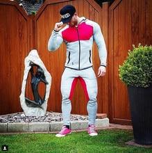2016 Fitness Männer Hoodies Gymshark Marke Kleidung Männer Hoody Reißverschluss Beiläufigen Sweatshirt Muscle männer Slim Fit Kapuzen Jacken