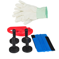 8 X Car Wrapping Tint Tool Kit Felt Squeegee Magnet Holder Vinyl Film Cutter