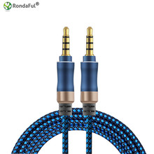 Rondaful 3.5mm Aux Audio Cable Male to Male for IPhone 6s 5s Samsung Mp3 Car Headset Speaker Aux Wire Cord TPE