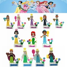 Legoing Friends Figures Princess Girl Elves Elsa Cinderella Snow White Building Blocks Toys for Children Compatible Legoings Toy(China)