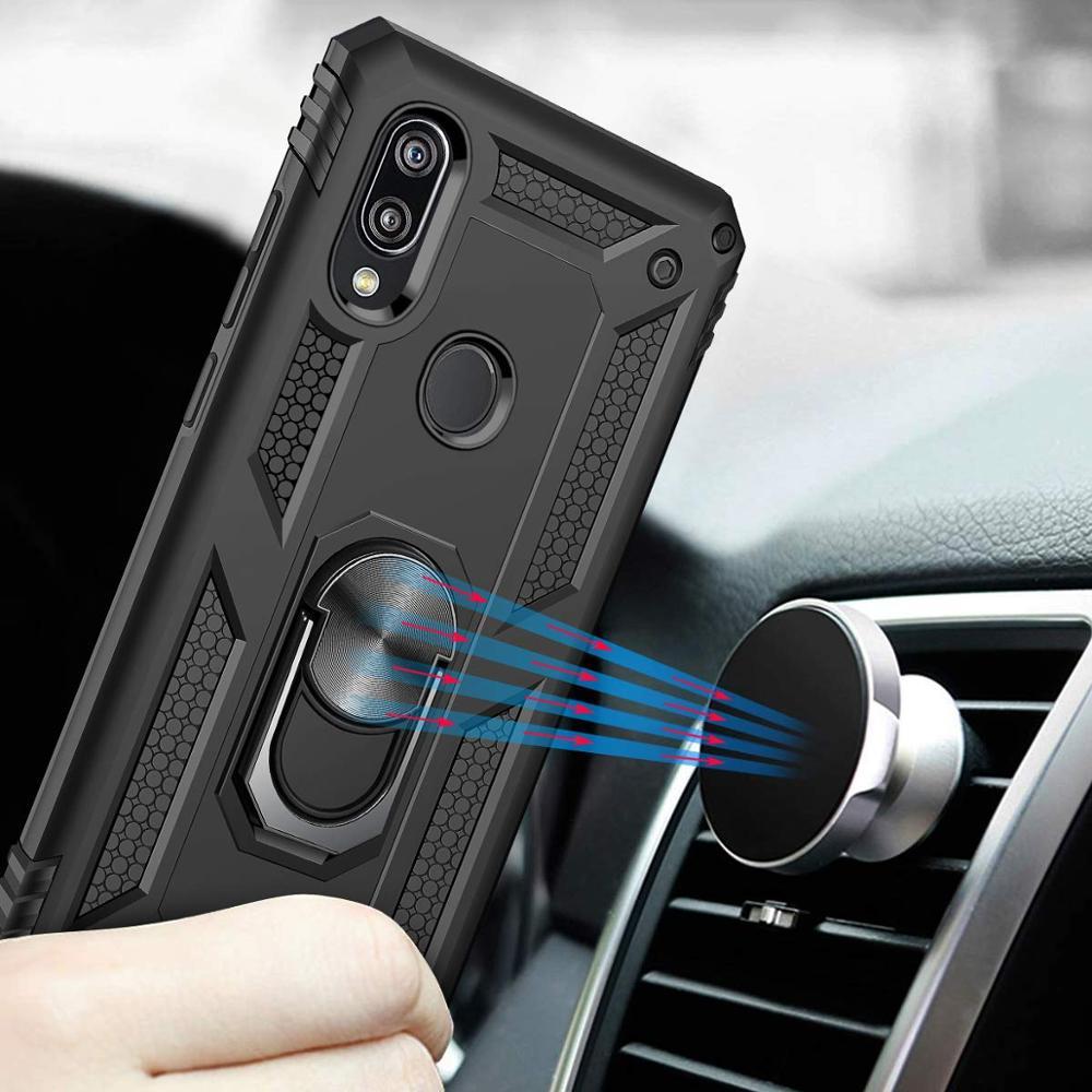 Case For Xiaomi Redmi Note 9 Pro Max Ring Kickstand Car Mount Magnetic Military Cover For Xiaomi Mi Note 10 Lite CC9 K30 Pro
