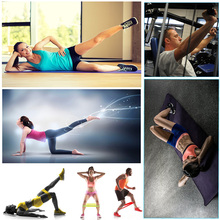 50cm Home Fitness Rubber Loop Pilates Resistance Bands Set Gym Strength BodyBuilding Training Athletic Expander Yoga Expander