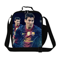 Best Gift Lionel Messi lunch bag for boys,insulated Lunch Bags Fashion Kids Picnic cooler lunch box for children Teens food bag