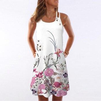 29acbd0f8ed Product Offer. Женское летнее платье в винтажном стиле без рукавов с 3D цветочным  принтом